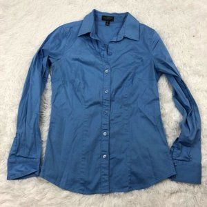 The Limited Womens Essential Shirt Blue Button